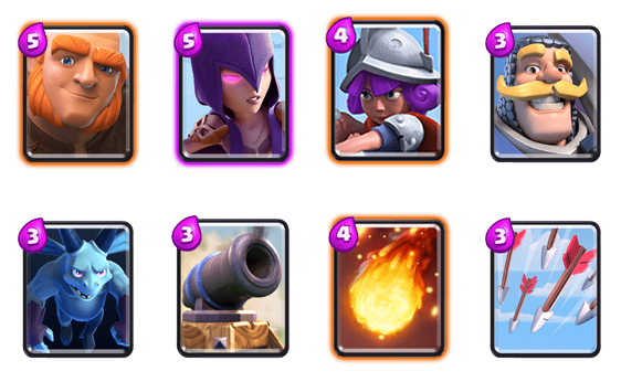 Clash Royale Deck Arena 4