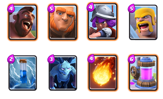 Clash Royale Deck Arena 7